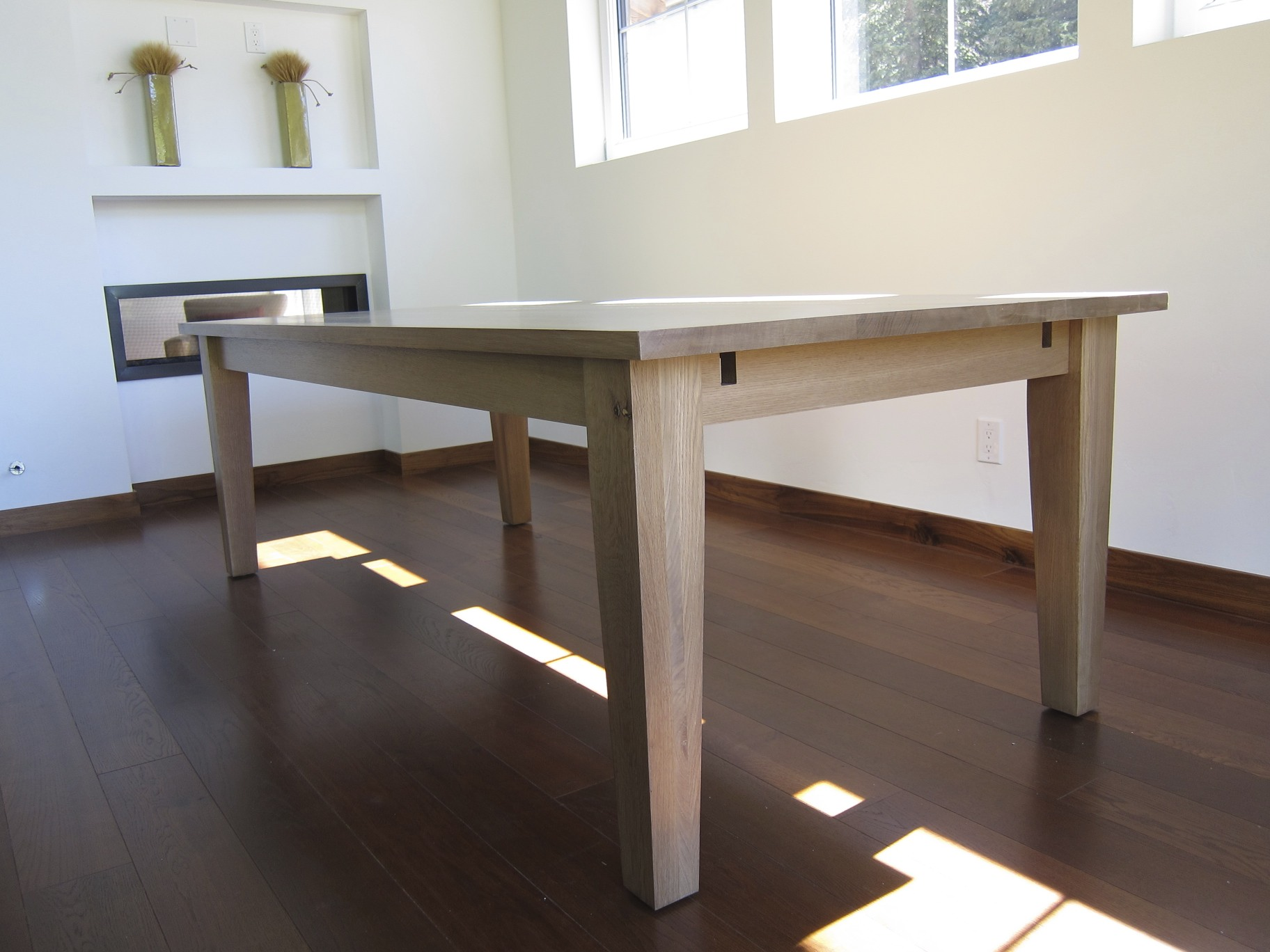Dining table general contractor new construction for Dining table construction